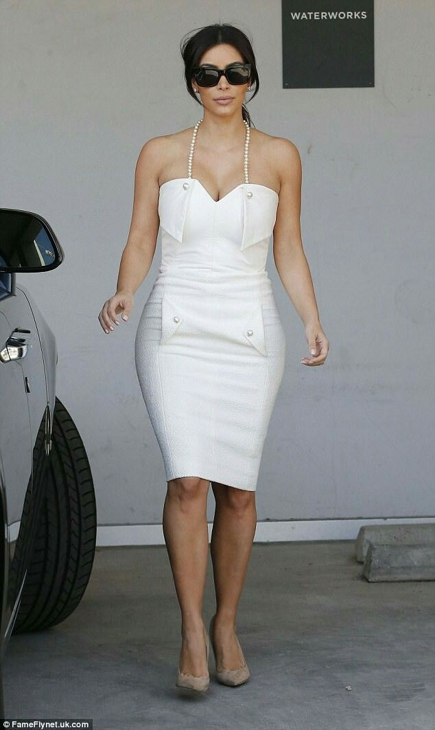 kim kardashian wearing a chanel dress to her bridal shower in 2014