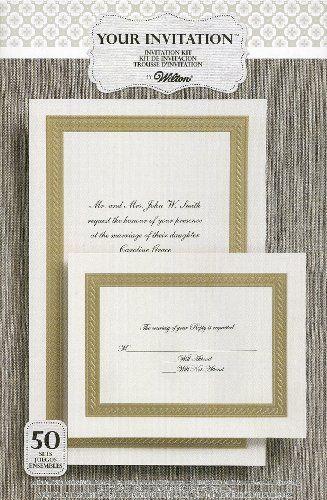 WILTON Braided Elegance Embossed INVITATION Kit Count Wilton - Wilton wedding invitation templates