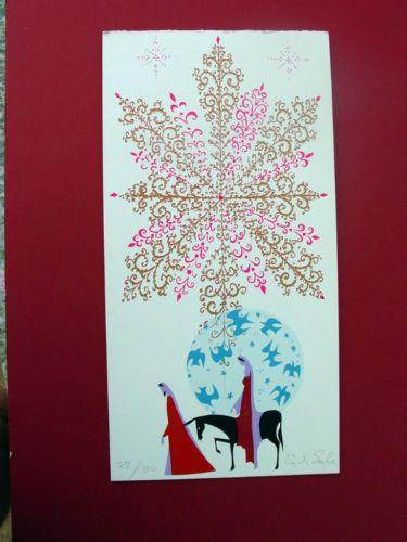MARY AND JOSEPH WITH STAR ~ EYVIND EARLE ~ PERSONAL CHRISTMAS CARD ~ GORGEOUS in Art, Art from ...