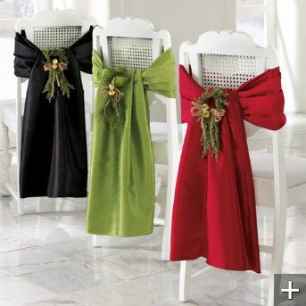 Christmas Chair Wrap Is An Elegant Way To May Any Chair Special