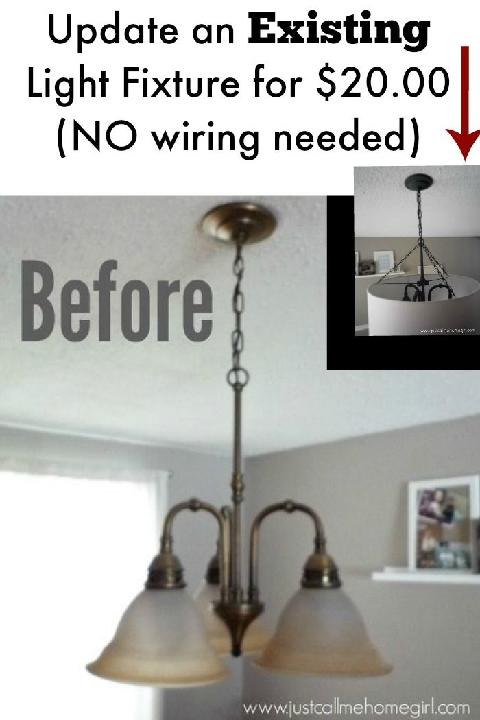 Inexpensive existing light fixture update without the need for any wiring for under $20.00  sc 1 st  Pinterest & Light Fixture Update for $20! | DIY | Pinterest | Lights Decorating ...