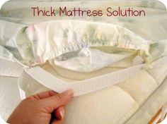 Keep Your Sheets On A Thick Mattress Mattress Sheets Diy Bed