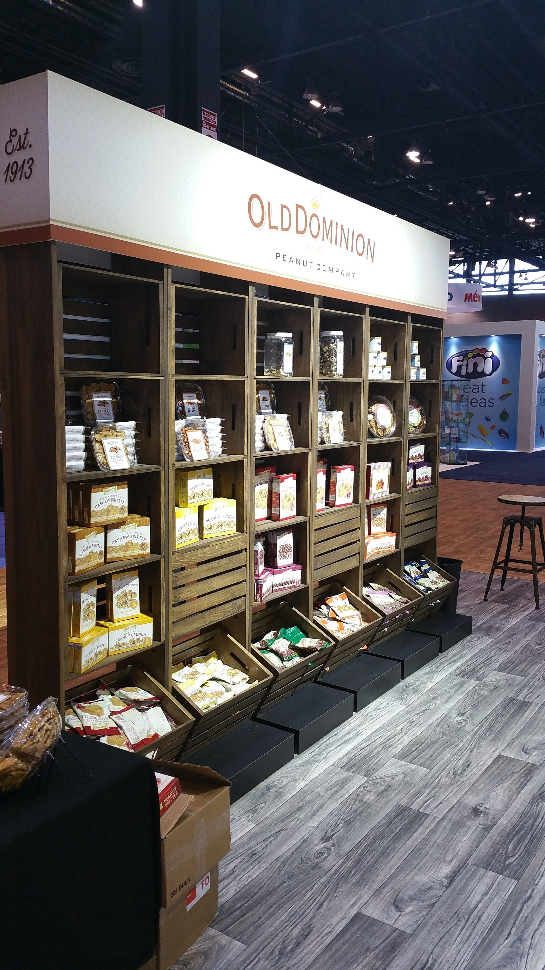 successful food booth designs  ref  pinterest  booth design . rustic tradeshow booth design for old dominion snack company
