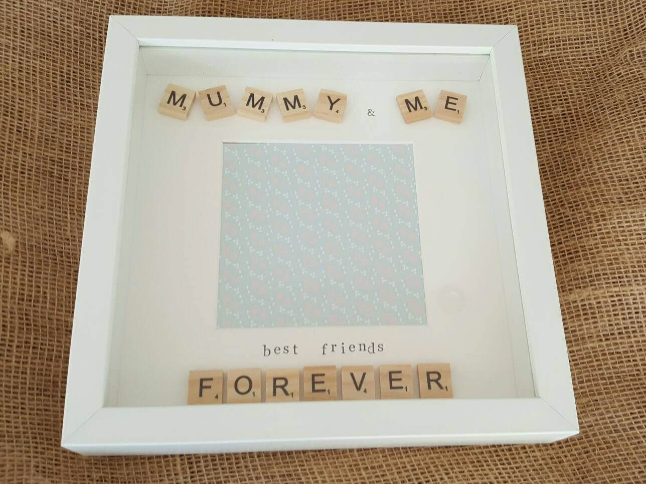 Mummy & me photo frame with wooden scrabble letter tiles. Perfect ...