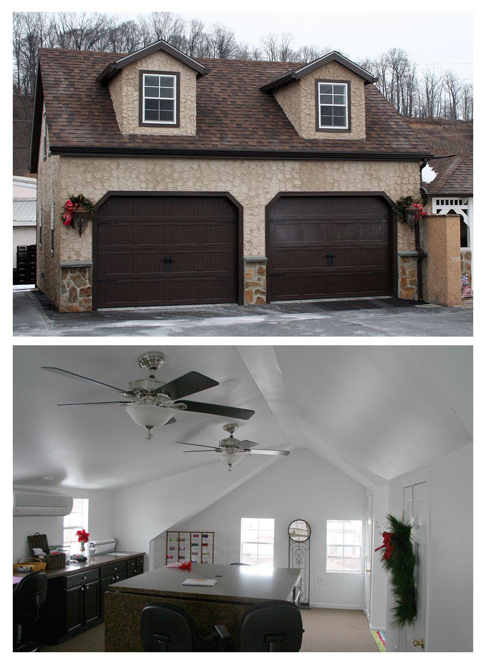 Raised Roof Garage Prefab Garages Horizon Structures Garage Design Interior Garage Interior Prefab Garages