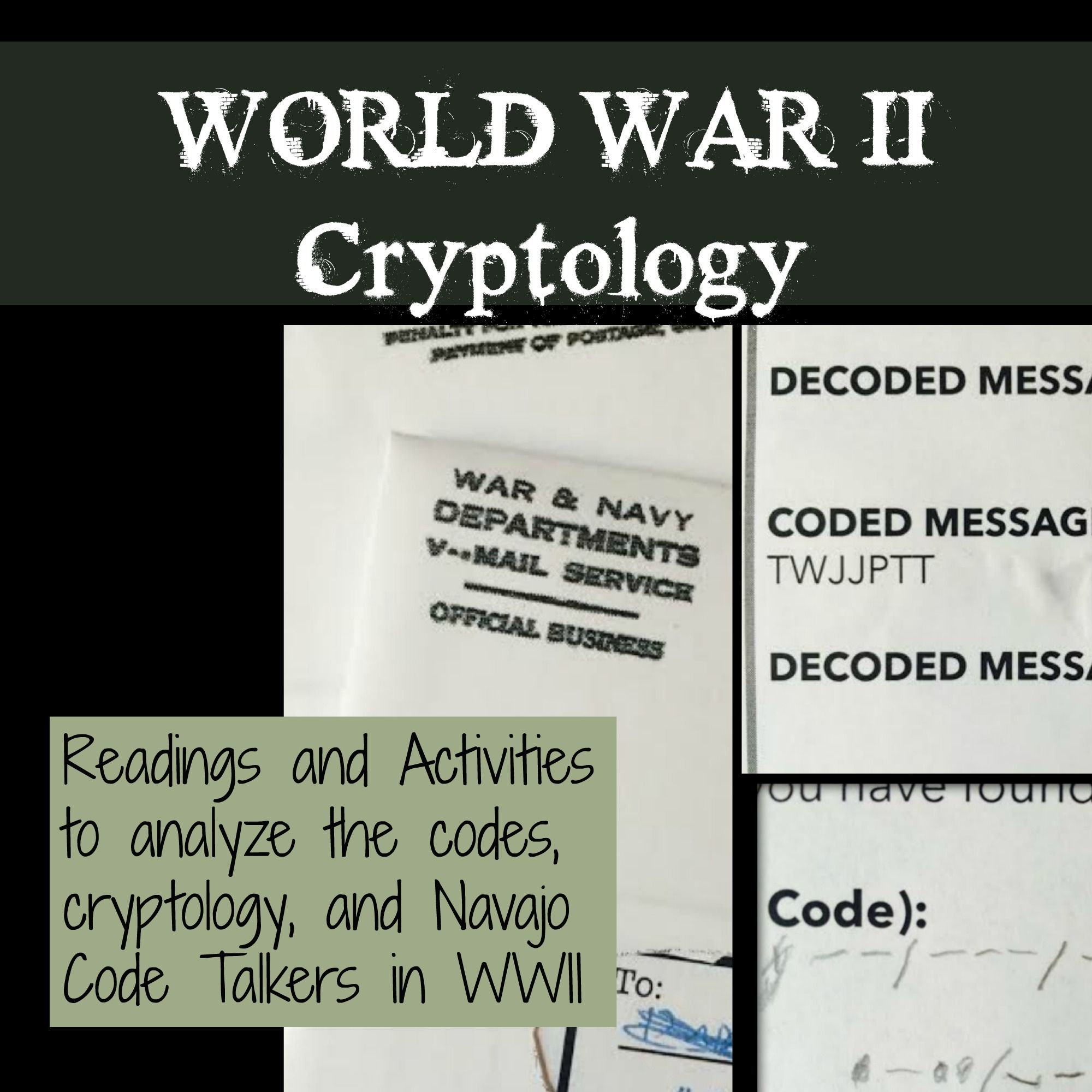 World War 2 Activity Cryptology Codes And Code Breaking