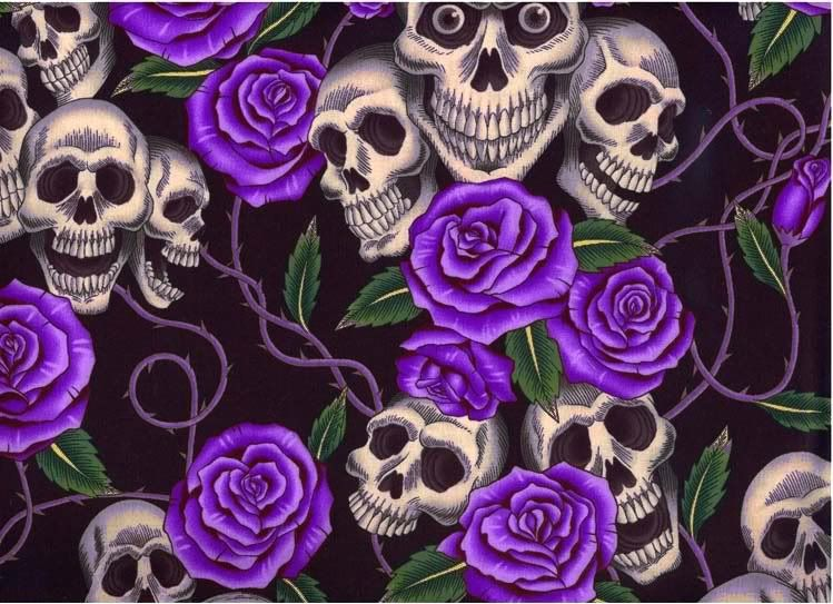 skull and roses wallpapers - photo #20