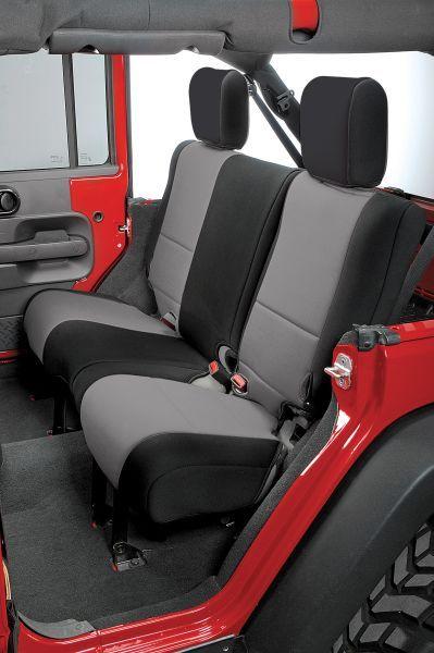 Rugged Ridge Custom Fit Neoprene Rear Seat Covers For 07 18 Jeep Wrangler Unlimited Jk 4 Door Jeep Wrangler Unlimited Jeep Seats Jeep Wrangler