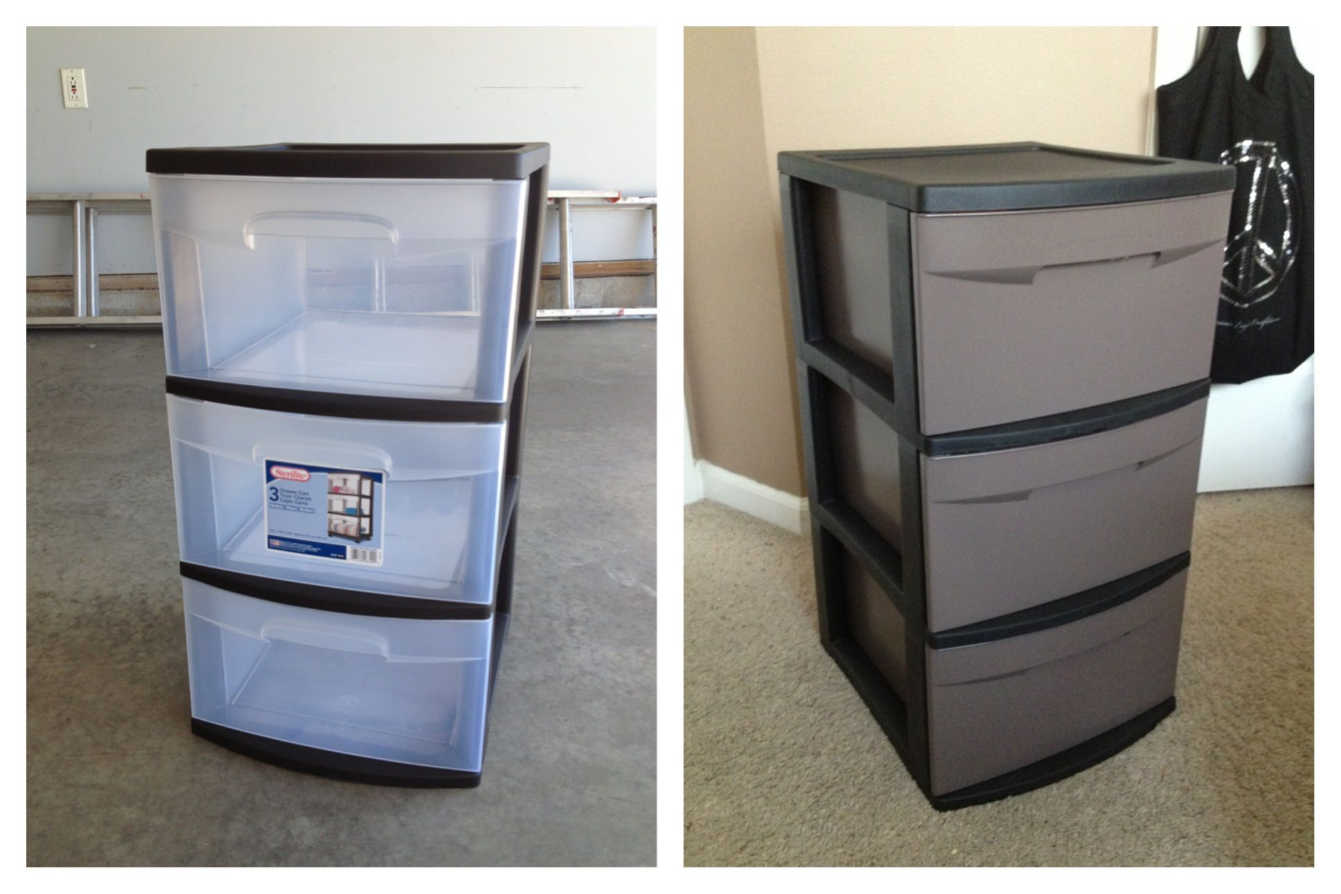 Cheap College Kid Apartment Option Spray Paint Plastic Drawers To