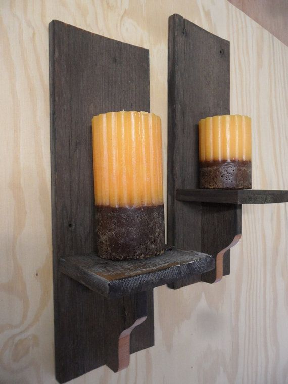 Primitive Barnwood Wall Sconcesgreat For The Living Room Back Amusing Candle Wall Sconces For Dining Room Design Ideas