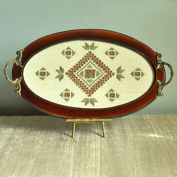 Handmade Tray Decoration Best Lefkara Lace Serving Tray Vintage Handmade Traditional Da Vinci Decorating Inspiration