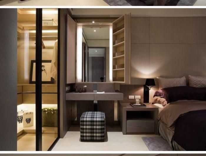 Quelle décoration pour la chambre à coucher moderne - couleur chaude pour une chambre