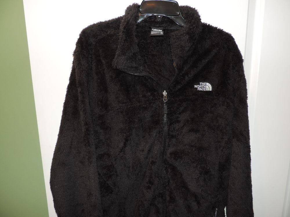 f6134f4cb The North Face Ladies Full Zip Black Sunray Fuzzy Jacket SZ M NWT ...