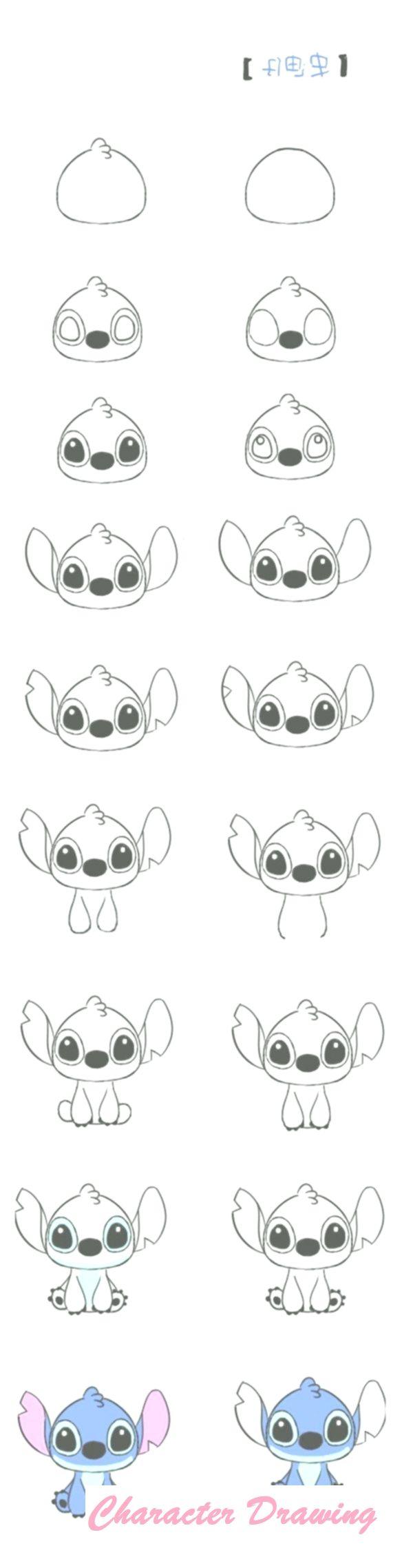 How To Draw Cartoon Characters Step By Step 30 Examples Art Drawings Simple Cute Drawings Disney Drawings