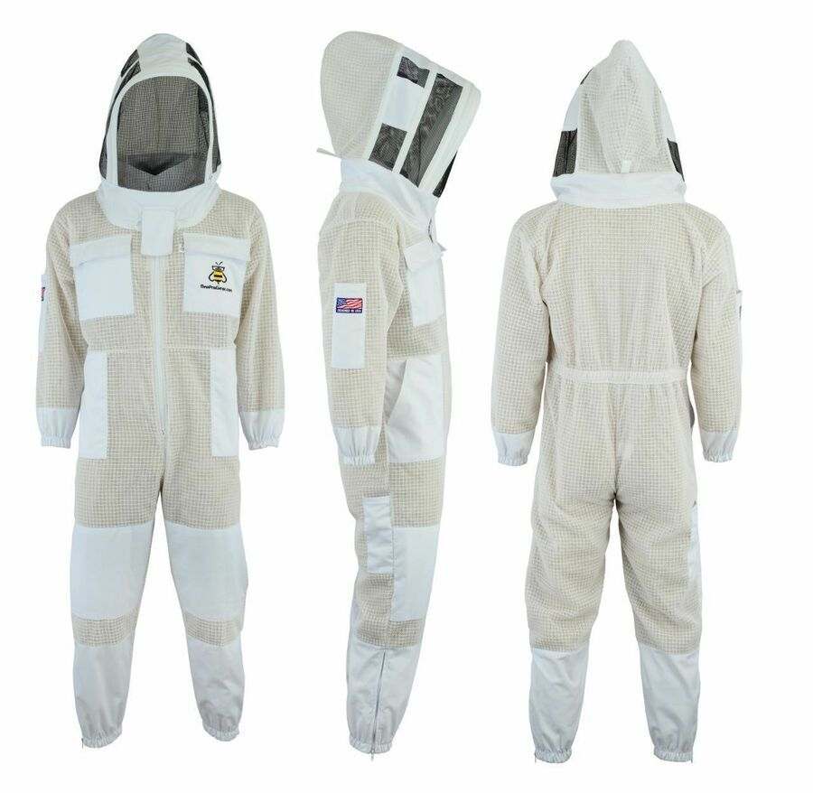 Ventilated Beekeeping Suit Round//Hoodie Hat Style Ventilated Beekeeping Suit