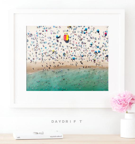 Beach Poster Bondi Beach Aerial Beach Print Extra Large Wall