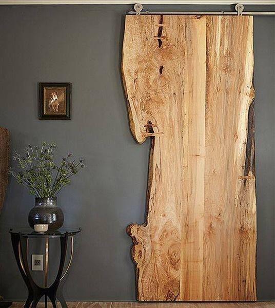 RimaHome porta scorrevole in legno di rovere grezzo con