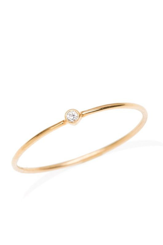 Anine Bing Gold Ring With Diamond Star rD52f2
