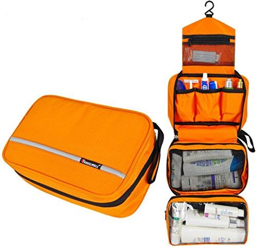 Hanging Travel Toiletry Bag for People Clear Organizer for Travel  Accessories Cosmetic Makeup Small Bottles Orange -- Find out more about the  great product ... 117b3d01b08cf