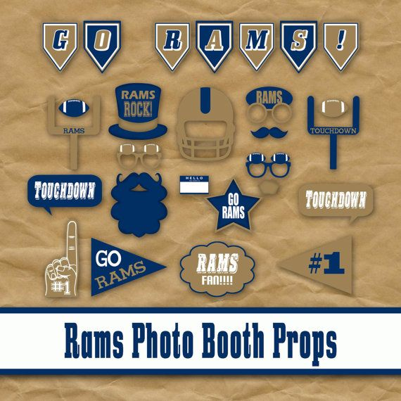 42b3df74 Printable Football Photo Booth Props | Rams Birthday | Football ...