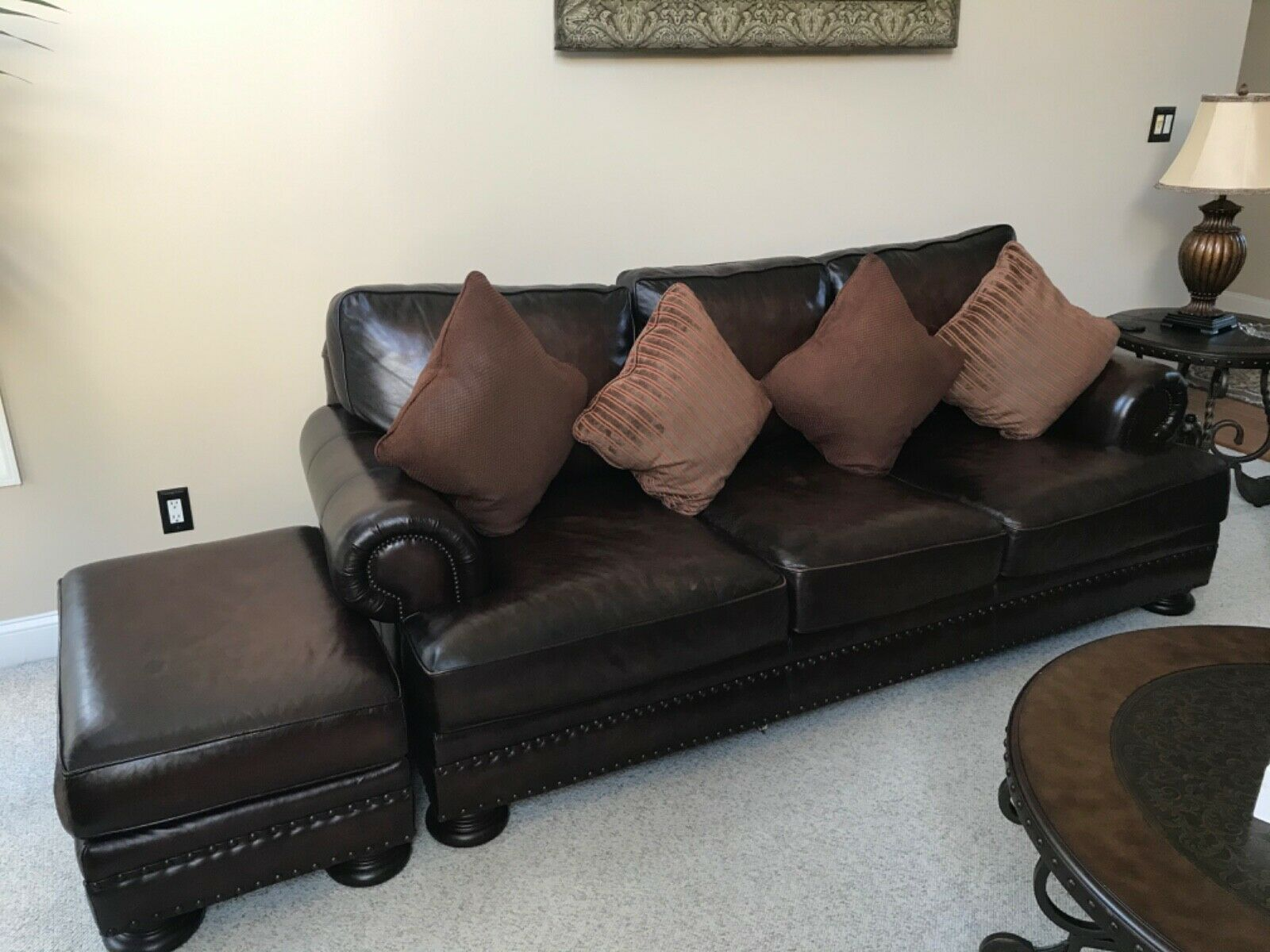 Bernhardt sofa and loveseat and ottoman forsale great