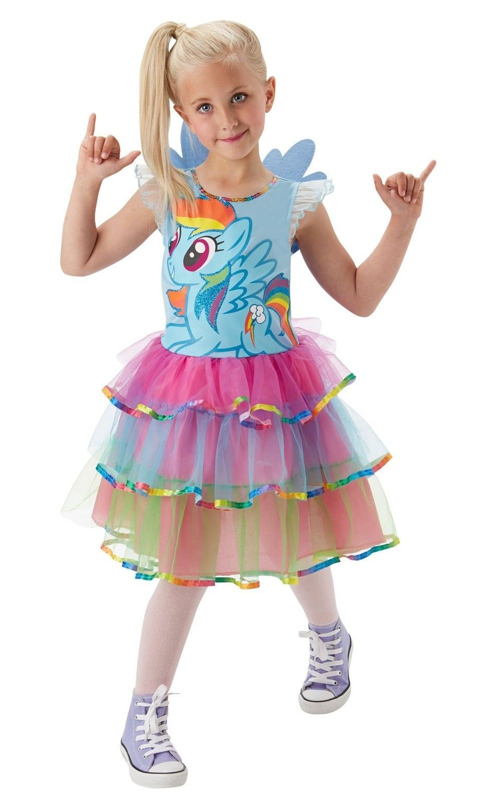 Girl Deluxe Rainbow Dash My Little Pony Costume Unicorn Fancy Child Dress Outfit