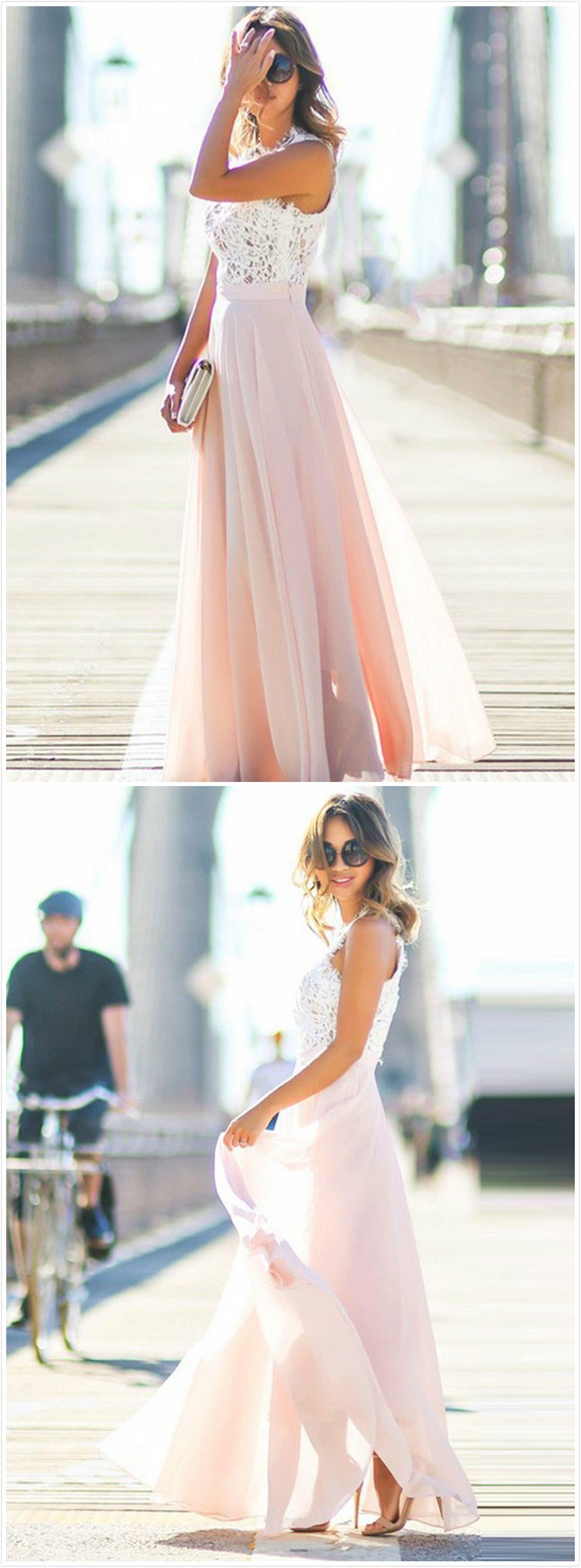 Elegant Sleeveless Lace Chiffon Evening Party Dress | Kunstnägel ...