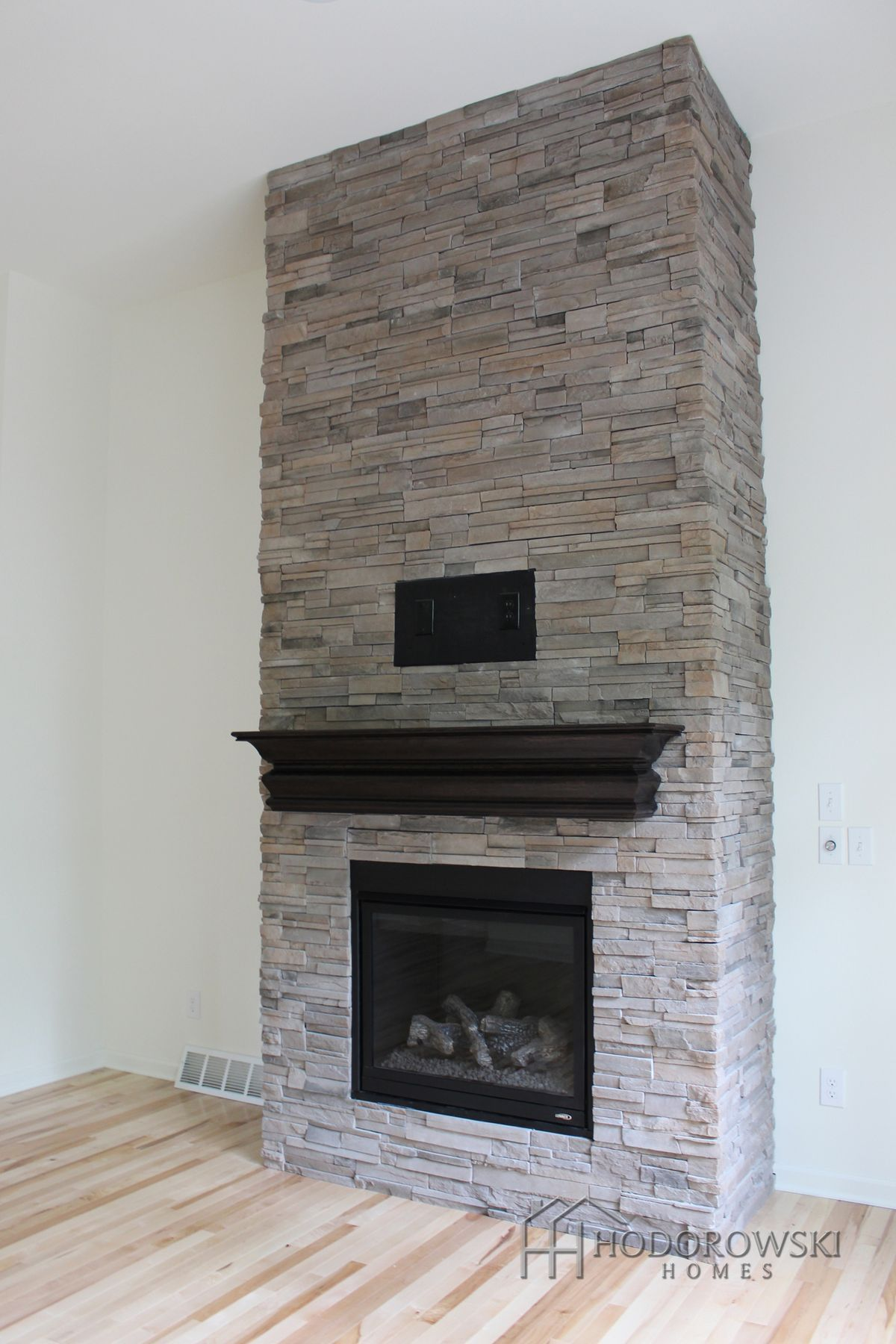This Beautiful Floor To Ceiling Fireplace Is At Our Community