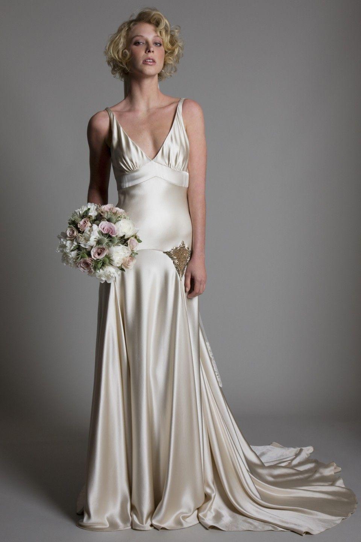 Collections Halfpenny London Backless Wedding Dress Wedding Dresses Satin Embellished Wedding Dress