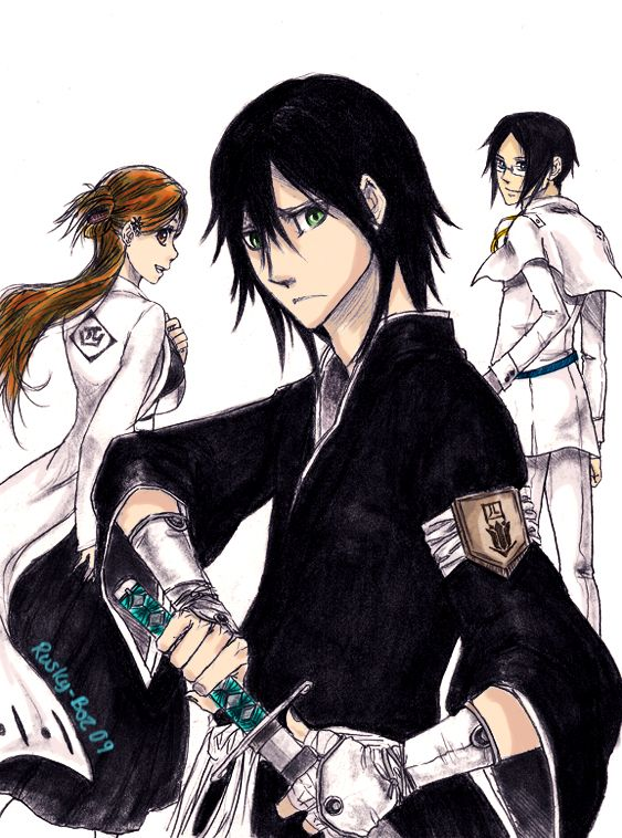 BLEACH Ulquiorra As A Soul Reaper And Orehime Did Not Spell That Right Squad 4 Captain