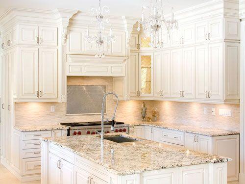 White Kitchen Cabinet Granite Countertops Kitchen Cabinet