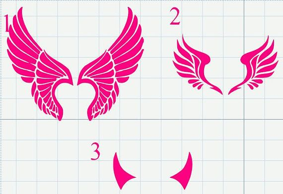 Wing and Horn Roller Derby Decal for Helmets or by KnockoutGraphix