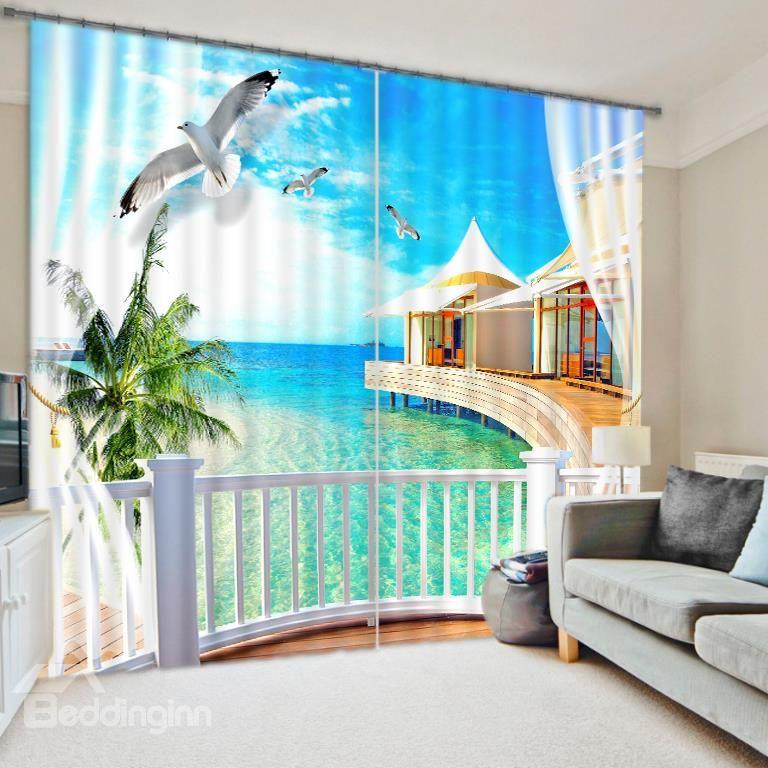 Wonderful Scenery 3d Energy Saving Curtain On Sale Buy Retail