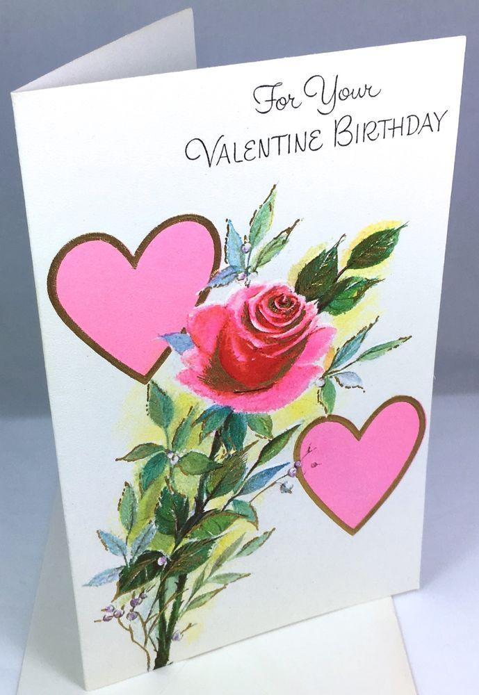 Unused Vtg Greeting Card Valentines Day Birthday Charm