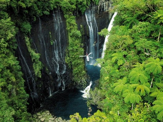 Taking a helicopter tour is a must-do when visiting Reunion Island