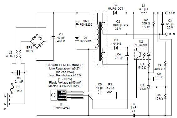 Image Result For 15v 1a Smps Circuit Diagram