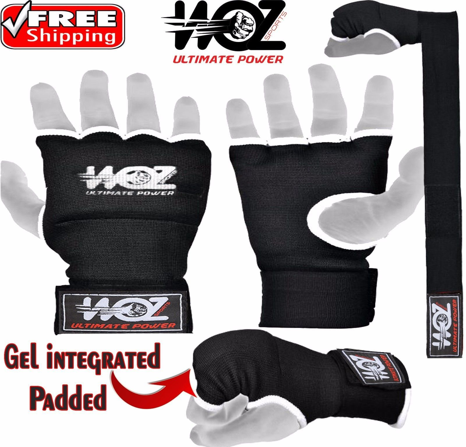 Gel Bandages MMA boxing INNER Quick Hand Wraps Gloves straps Quality stuff
