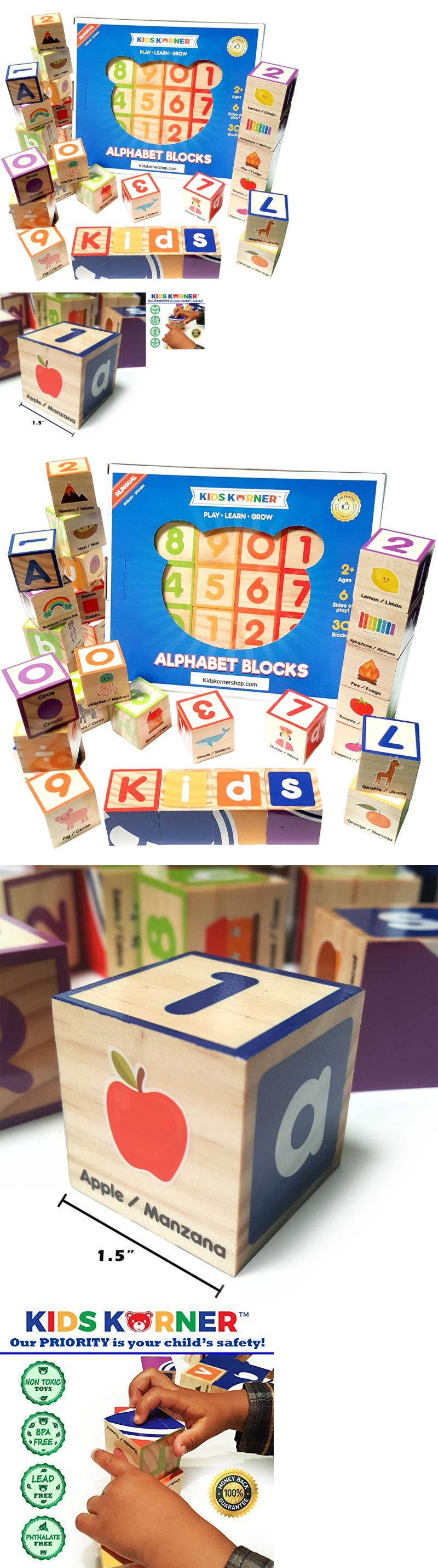 Blocks Tiles and Mats Abc Blocks Wooden – Bilingual