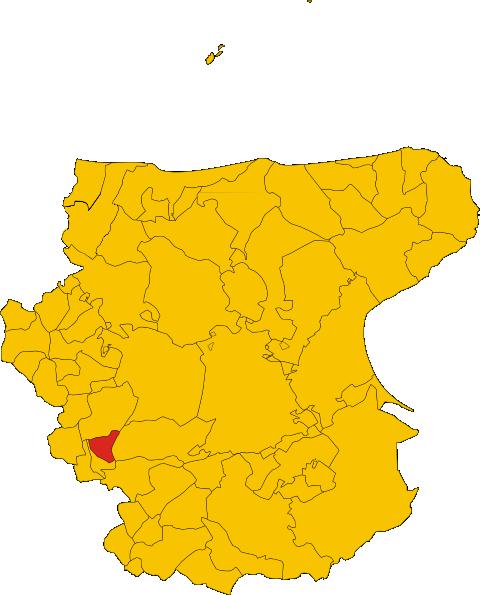 Map Of Comune Of Castelluccio Valmaggiore Province Of Foggia Region