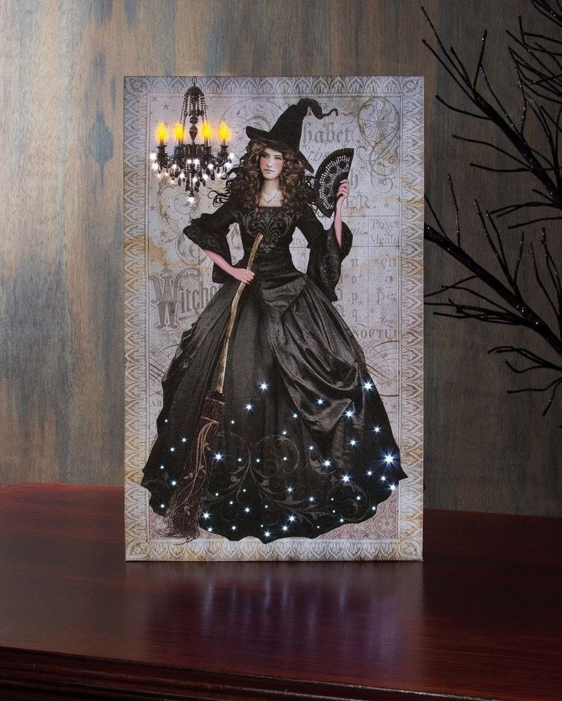Details about Witch Black Magic Radiance Lighted Canvas x46803 NEW ...
