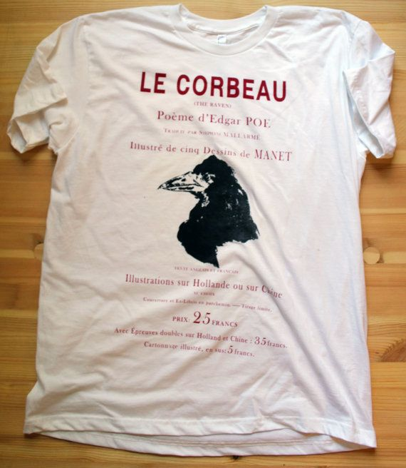 Le Corbeau  Men  Extra Large White par Aoristic sur Etsy, $23.00