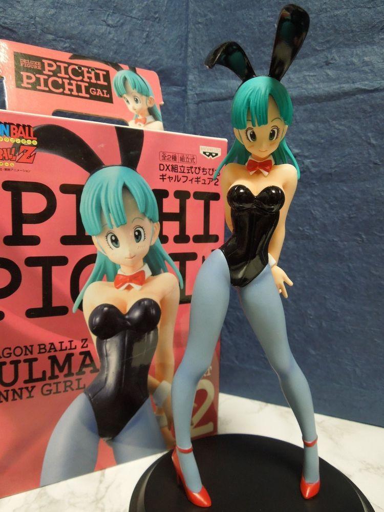 Anime Dragon Ball Z DX Pichi Pichi Gal 2 Bulma Bunny Girl PVC Figure Black NoBox