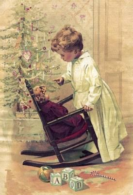 Childhood Joys - this makes me think of my childhood rocker that I still own today! Will have to incorporate into Christmas Display with doll dressed for the holiday