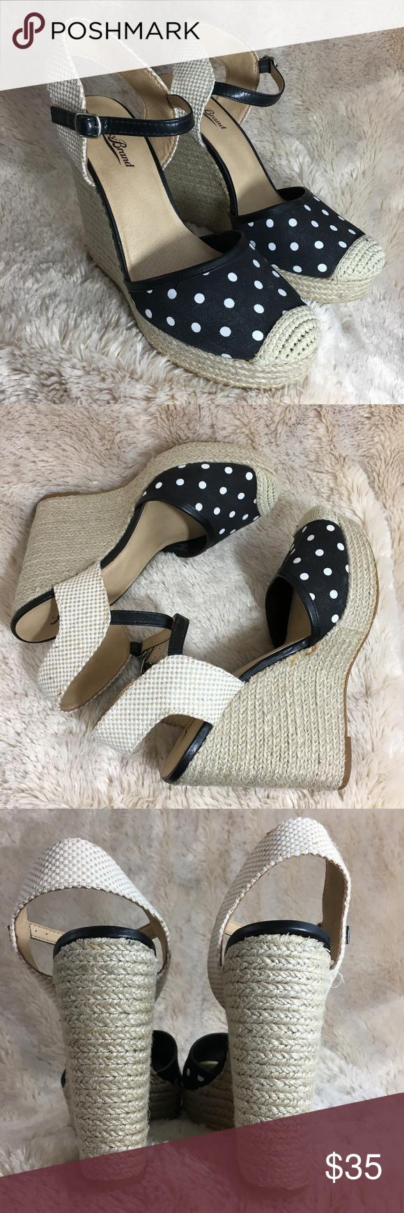 8356c0507d6 Lucky Brand Reandra Polka Dot Espadrille Wedges Lucky Brand LK-Reandra  Espadrille Wedge Sandals in