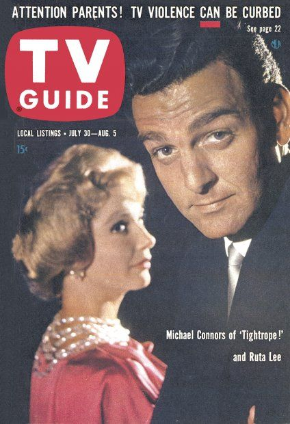 "TV Guide: July 30, 1960 - Michael Connors of ""Tightrope"" and Ruta Lee"