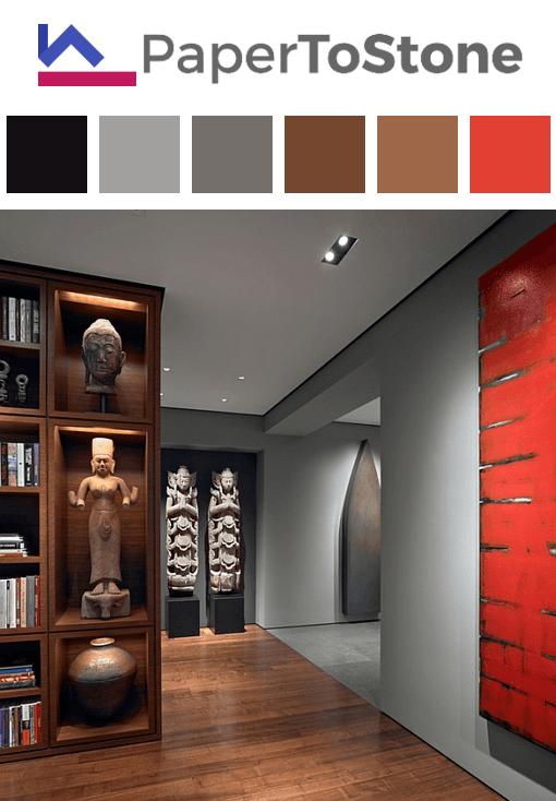 living room color palette black dark grayish tangelo dark orange rh pinterest com