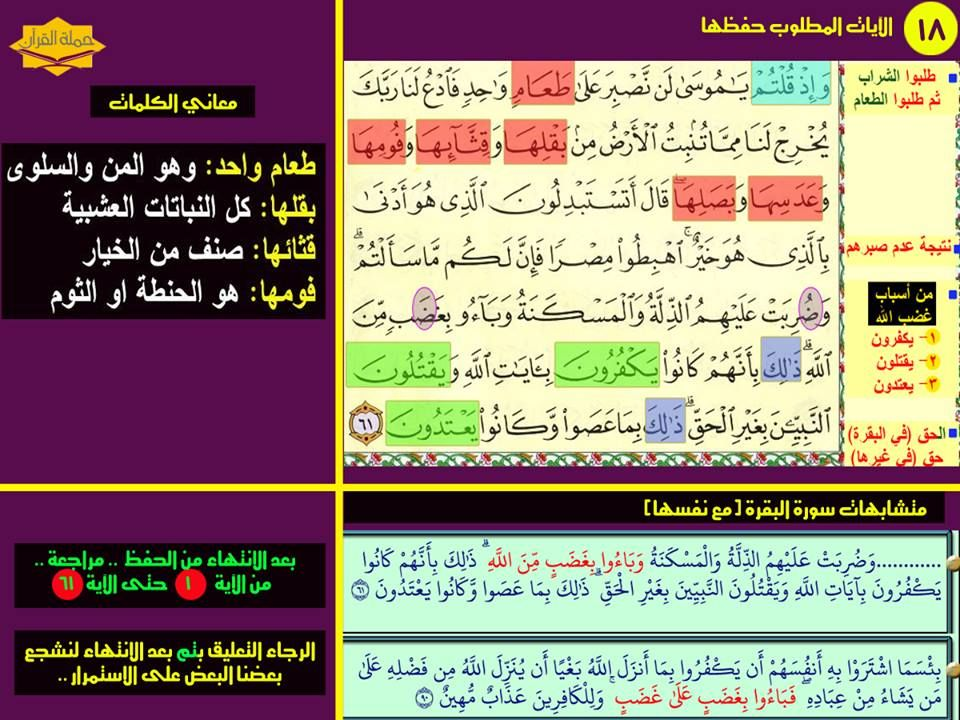 Pin By Memorizing Quran On بطاقات حفظ سورة البقرة How To Memorize Things Periodic Table Quran