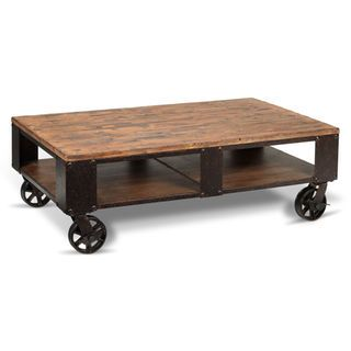 6955f9c2eb27 Pinebrook Condo Coffee Table - Distressed Natural Pine ...
