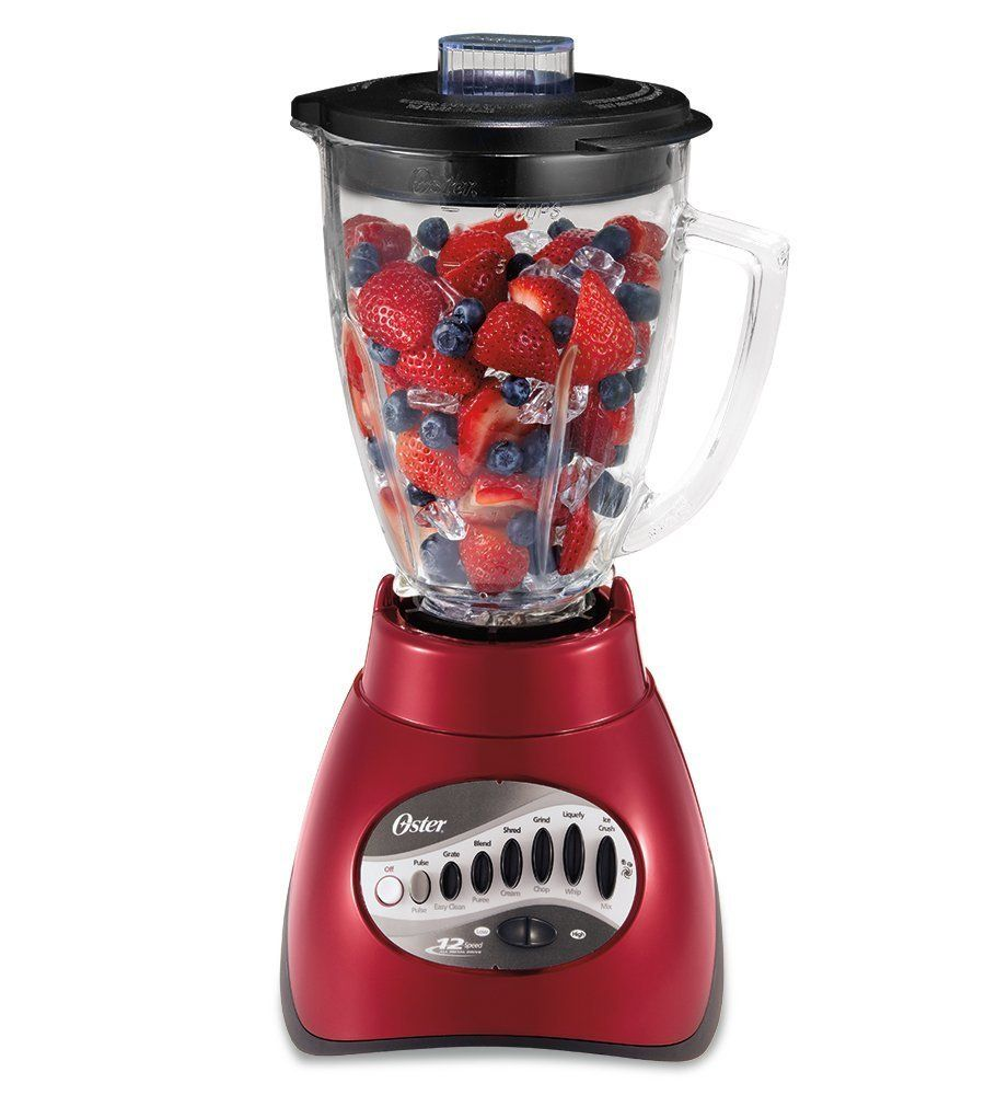 OSTER 6-Cup Glass Jar 12-Speed Blender Metallic Red $38.95 TOTAL COST-BEST PRICE GUARANTEED-SEVERAL COLORS IN STOCK FOR PICK UP OR WE WILL SHIP FREE WORLDWIDE...100% MONEY BACK SATISFACTION GUARANTEED...WEBSITE: www.shopculinart.com