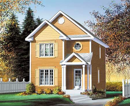 Plan 80042pm great for a narrow lot traditional house for Small house plans canada